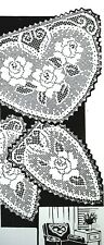 502 Vintage Laura Wheeler Filet ROSE CHAIR SET Pattern to Crochet (Reproduction)