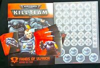 FANGS of ULFRICH KILL-TEAM=CARDS+TOKENS+RULES+SHEET-Games Workshop WARHAMMER 40K