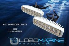 LOBO MARINE LED Spreader Flood Light Set 18W 12V 1320 Lum Boat T-Top Yacht