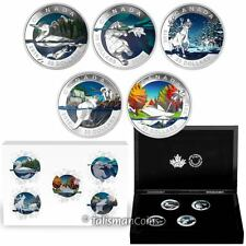 Canada 2016 Geometry in Art Complete 5 Coin Set $20 Silver Proofs in Case Box