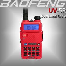 New BAOFENG Pofung UV-5R RED Ham VHF/UHF 2 Way Walkie Talkie Dual Band FM Radio