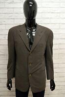 Giacca Uomo TRUSSARDI Taglia Size 48 Maglia Blazer Jacket Shirt Man Lana Quadri