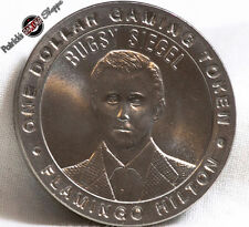 """$1 SLOT TOKEN COIN FLAMINGO HILTON CASINO """"BUGSY SIEGEL"""" 50th 1997 GDC LAS VEGAS"""