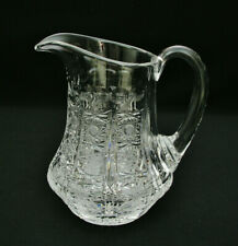 """BOHEMIA QUEENS LACE CRYSTAL - 6 3/8"""" TALL PITCHER / JUG - EXCELLENT CONDITION"""