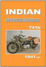 INDIAN Workshop AND Parts Manual 741b Army Scout WW2 Service & Repair