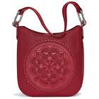 NWT  Brighton Ferrara Medallion AMELIE Red Leather Shoulder Bag Purse MSRP $365