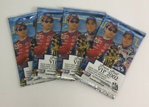 2002 Press Pass VIP Factory Sealed NASCAR Racing Retail Edition 4 Pack Lot