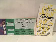 The Ramones Concert Ticket Stubs Set Of 2