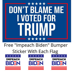 3x5 FT 2024 Donald Trump Don't Blame Me I Voted For Trump Flag Patriot USA