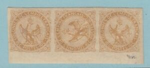 FRENCH COLONIES 3a STRIP OF 3 ONE SIDEWAYS VARIETY MAJOR RARITY. MH OG CERT