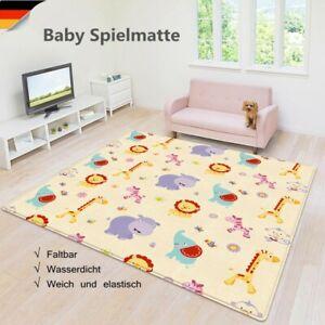 Baby Krabbelmatte Schutzmatte 150*180cm Kinderteppich Spielunterlage Weich Neu!