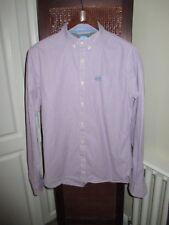 Mens SuperDry PurpleCasual London Button Down Shirt sizeL