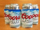 Coors Light Koozie Silver Bullet Rockies Blue Bottle Can Set of (4) New & F/S