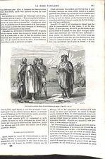 Ancien Testament Les Princes de Galaad & Jephté Maspha Bible Israël GRAVURE 1864