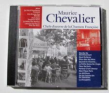 MAURICE CHEVALIER . Chefs-D'Oeuvre De La Chanson Française  . CD CF013