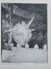 1912 Max Klinger ZEICHNUNG ZU DEM BLATT FÜR ALLE alter Druck old print