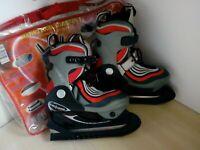 Childrens Shoe Size Adjustable Ice Skates From Size UK 2-3.5 EU 34-36