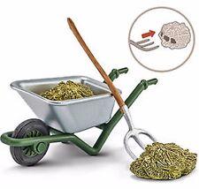 NEW  Schleich Pony Horse Club 42290 Stables Cleaning Kit Farm Wheelbarrow Hay