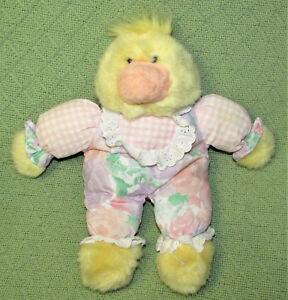"12"" Commonwealth YELLOW DUCK 1993 Plush Stuffed Vintage Animal Pajamas Outfit"