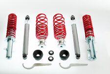 VW Golf 4 - Amortisseurs combinés fileté - Ressorts réglables + Coupelles avants