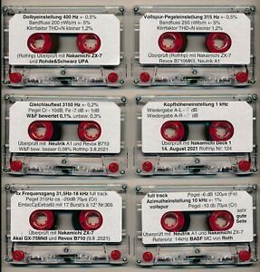 Mess Test Tapes: Pegel W&F Azimut Dolby Level Frequenzgang Kopfhöhen calibration