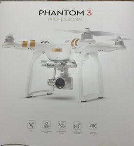 DJI Phantom 3 Professional Quadcopter RTF GPS Camera Drone Plus Bonus Items NEW!