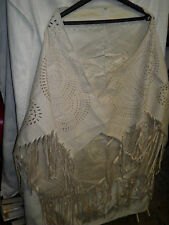 Faux Suede Poncho/Shawl with Fringe -  new ideal extra layer/Spring Wedding