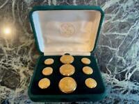 24K Gold 9 Rhode Island Anchor Hope Waterbury Blazer Jacket Buttons Box Case Set