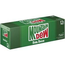 Mtn Dew Real Sugar Mountain Dew Cans (12 pack)