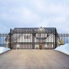 ALEKO Oslo Style Ornamental Iron Wrought Dual Driveway Gate 16' High Quality