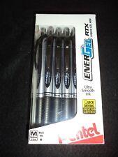 12 Pentel Energel Rtx Liquid Gel Pens Black Ink X1070 07mm Medium M Ener Gel