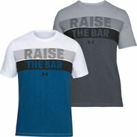 UNDER ARMOUR MENS UA RAISE THE BAR SS SPORTS GYM CHARGED COTTON T-SHIRT