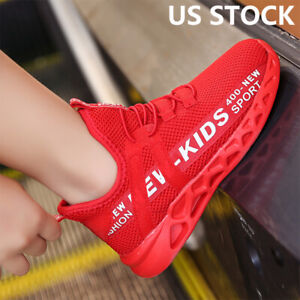 Kids Sneaker Lightweight Breathable Running Boys Shoes Casual Fashion Athletic