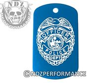 Dog Tag Military ID K9 Blue Police Badge 1