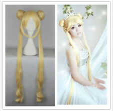 Golden Anime Sailor Moon Tsukino Usagi Princess Costume Party Cosplay Wig