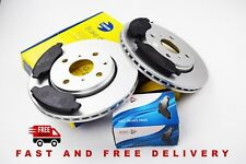 GENUINE COMLINE PEUGEOT 107, 2005> FRONT COATED DISCS VENTED AND BRAKE PADS