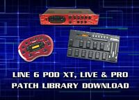 LINE 6 POD XT, LIVE & PRO PRE-PROGRAMMED PATCHES DOWNLOAD 7500+ - GUITAR EFFECTS
