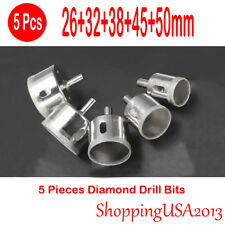 5 Pcs 26-50mm Diamond Coated Drill Bits Set Hole Saw Cutter Tool Glass Marble*