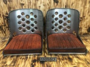 """""""BUILDER"""" SPECIAL - Iron Ace """"17"""" Hot Rod Rat Rod Bomber Seat(s) w/ Cushions"""