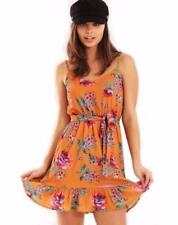 V-Neck Floral Dresses for Women with Ruffle