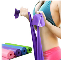1.5m Elastic Yoga Pilates Rubber Stretch Resistance Exercise Fitness Band  A360
