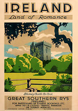 Ireland castle A3 vintage retro travel & railways posters Wall Decor #3