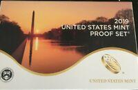 2019-S 10 Coin Proof Set w/box & COA United States Mint  ((((((NO W CENT)))))))
