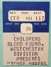 RICHIE HAVENS 1969 ticket stub NY