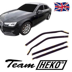 HEKO TINTED WIND DEFLECTORS for AUDI A4 B9 4 DOOR 2016-up SEDAN 4pc