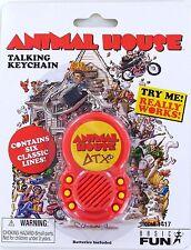 ANIMAL HOUSE Talking Keychain Keyring JOHN BELUSHI Toga Frat Party 2006 New NIP