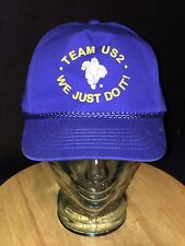 Vintage MICHELIN MAN Team US2 We Just Do It! Hat Cap Snapback Rope Cord SC LOCAL