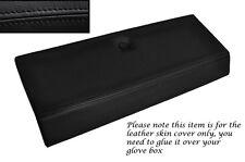 BLACK STITCH GLOVE BOX LID LEATHER SKIN COVER FITS FIAT X1/9 X19