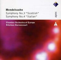 MENDELSSOHN Symphonies 3 & 4 Scottish & Italian CD BRAND NEW Harnoncourt Apex