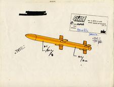 G.I. GI Joe General Hawk Missile Model Cel Art  80-90's Cartoon Dic Animation